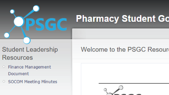 The Pharmacy Student Government Council homepage